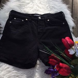 🌺HIgh waist button fly black shorts🌺